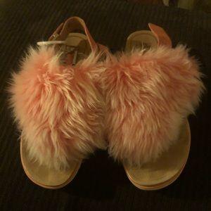 Rare furry ugh sandals